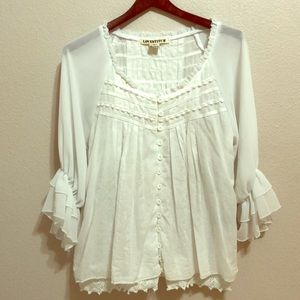 Lovestitch | White Embroidered  Blouse | L